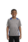 Sport-Tek Youth Heather Colorblock Contender Tee