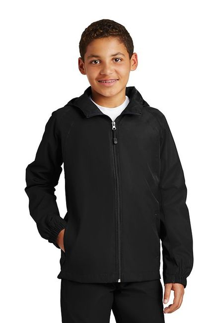Sport-Tek - Youth Hooded Raglan Jacket