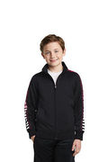 Sport-Tek Youth Dot Sublimation Tricot Track Jacket