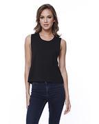 Ladies' Cotton Muscle Crop T-Shirt